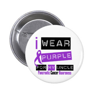 Pancreatic Cancer Purple Ribbon For My Uncle Buttons
