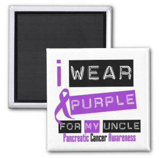 Pancreatic Cancer Purple Ribbon For My Uncle Refrigerator Magnet