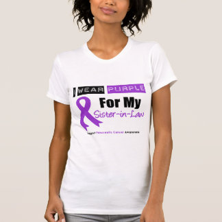 Pancreatic Cancer Purple Ribbon Sister-in-Law Shirt