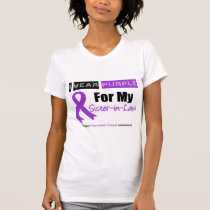 Pancreatic Cancer Purple Ribbon Sister-in-Law T-Shirt