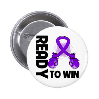 Pancreatic Cancer Ready To Win 2 Inch Round Button