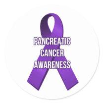 Pancreatic Cancer Ribbon Awareness Sticker