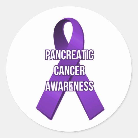 Pancreatic Cancer Ribbon Awareness Sticker Zazzle Com