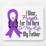 Pancreatic Cancer Ribbon My Hero My Father Mouse Pad