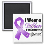 Pancreatic Cancer Ribbon Someone Special Fridge Magnets