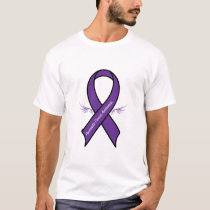 Pancreatic Cancer Ribbon with Wings T-Shirt