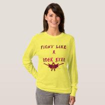 Pancreatic Cancer Rock Star Ladies Long Sleeve T-Shirt
