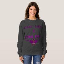 Pancreatic Cancer Rock Star Ladies Sweatshirt