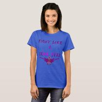 Pancreatic Cancer Rock Star Ladies T-shirt
