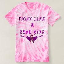 Pancreatic Cancer Rock Star Ladies Tie-Dye T-shirt
