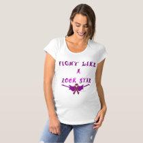 Pancreatic Cancer Rock Star Maternity T-Shirt