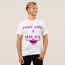 Pancreatic Cancer Rock Star Men's Burnout T-shirt