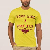 Pancreatic Cancer Rock Star Men's T-Shirt