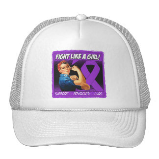 Pancreatic Cancer Rosie Riveter Fight Like a Girl Hat