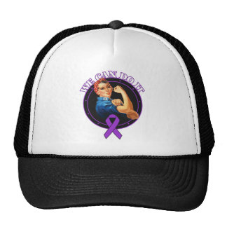 Pancreatic Cancer Rosie The Riveter - We Can Do It Mesh Hat