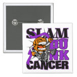 Pancreatic Cancer - Slam Dunk Cancer Pinback Buttons
