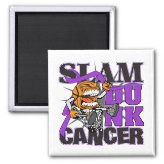 Pancreatic Cancer - Slam Dunk Cancer Refrigerator Magnet