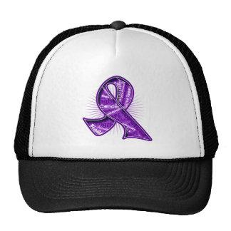 Pancreatic Cancer Slogan Watermark Ribbon Trucker Hat