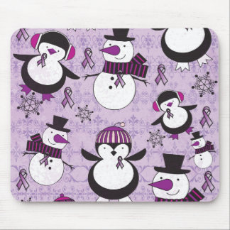 Pancreatic Cancer SNOWMAN Products Mouse Pad