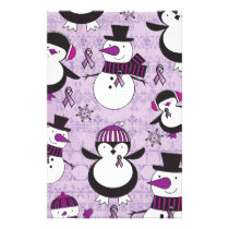 Pancreatic Cancer SNOWMAN Products Stationery