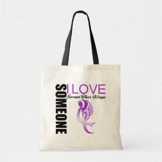 Pancreatic Cancer Someone I Love Earned Their Wing Canvas Bag