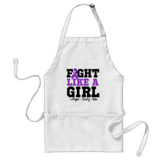 Pancreatic Cancer Sporty Fight Like a Girl Adult Apron