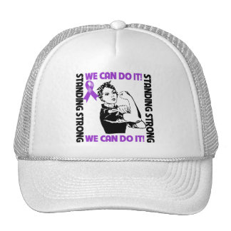 Pancreatic Cancer Standing Strong We Can Do It Mesh Hat