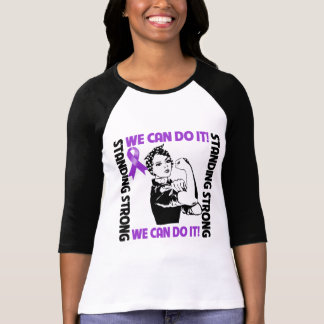 Pancreatic Cancer Standing Strong We Can Do It Tee Shirts