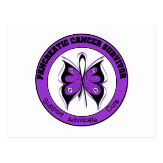 Pancreatic Cancer Survivor Butterfly Postcards