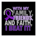 Pancreatic Cancer Survivor Family Friends Faith Poster