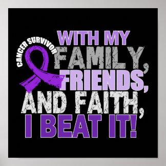 Pancreatic Cancer Survivor Family Friends Faith Print
