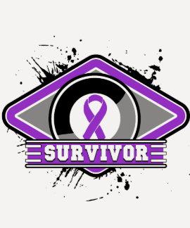 Pancreatic Cancer Survivor Grunge Logo Tees