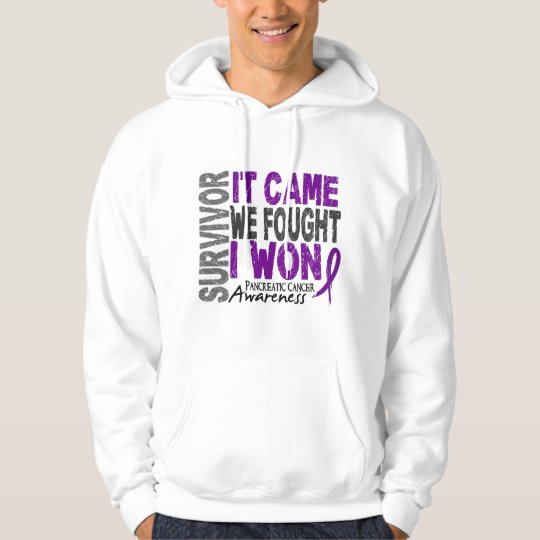 Pancreatic Cancer Survivor It Came We Fought I Won Hoodie