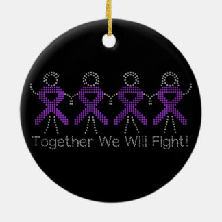 Pancreatic Cancer Together We Will Fight Ornament