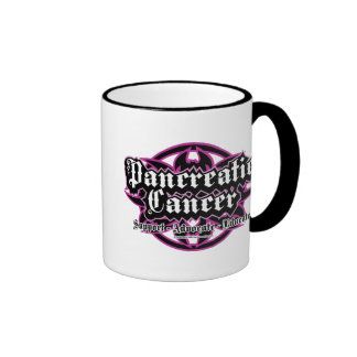 Pancreatic Cancer Tribal Ringer Mug