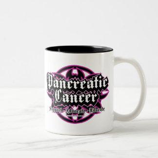 Pancreatic Cancer Tribal Two-Tone Coffee Mug