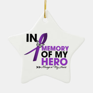 Pancreatic Cancer Tribute In Memory of My Hero Christmas Ornament