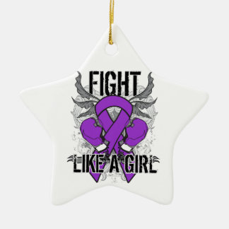 Pancreatic Cancer Ultra Fight Like A Girl Christmas Ornaments