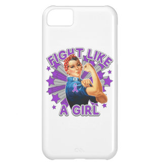 Pancreatic Cancer Vintage Rosie Fight Like A Girl. iPhone 5C Covers