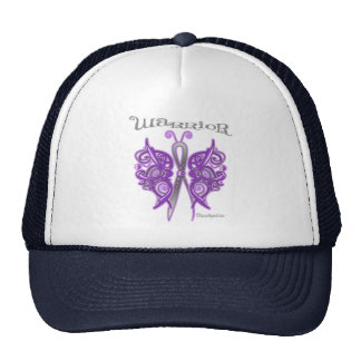Pancreatic Cancer Warrior Celtic Butterfly Hat