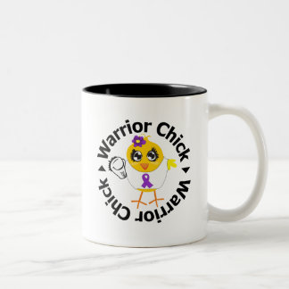 Pancreatic Cancer Warrior Chick Mugs