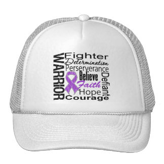 Pancreatic Cancer Warrior Collage Hats