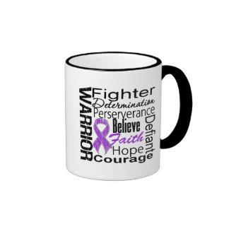 Pancreatic Cancer Warrior Collage Coffee Mug