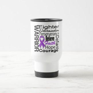 Pancreatic Cancer Warrior Collage Mug