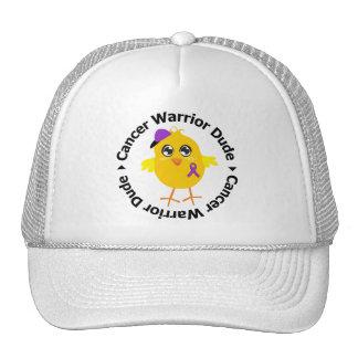 Pancreatic Cancer Warrior Dude Trucker Hats