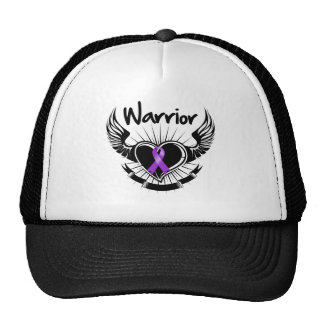 Pancreatic Cancer Warrior Fighter Wings Hats