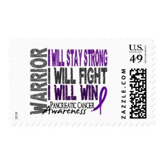 Pancreatic Cancer Warrior Postage Stamp