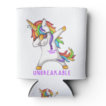 PANCREATIC CANCER Warrior Unbreakable Can Cooler