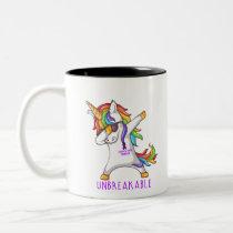 PANCREATIC CANCER Warrior Unbreakable Two-Tone Coffee Mug