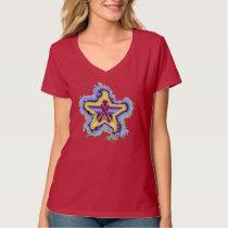 Pancreatic Cancer Wish Star Ladies Nano V-Neck T T-Shirt